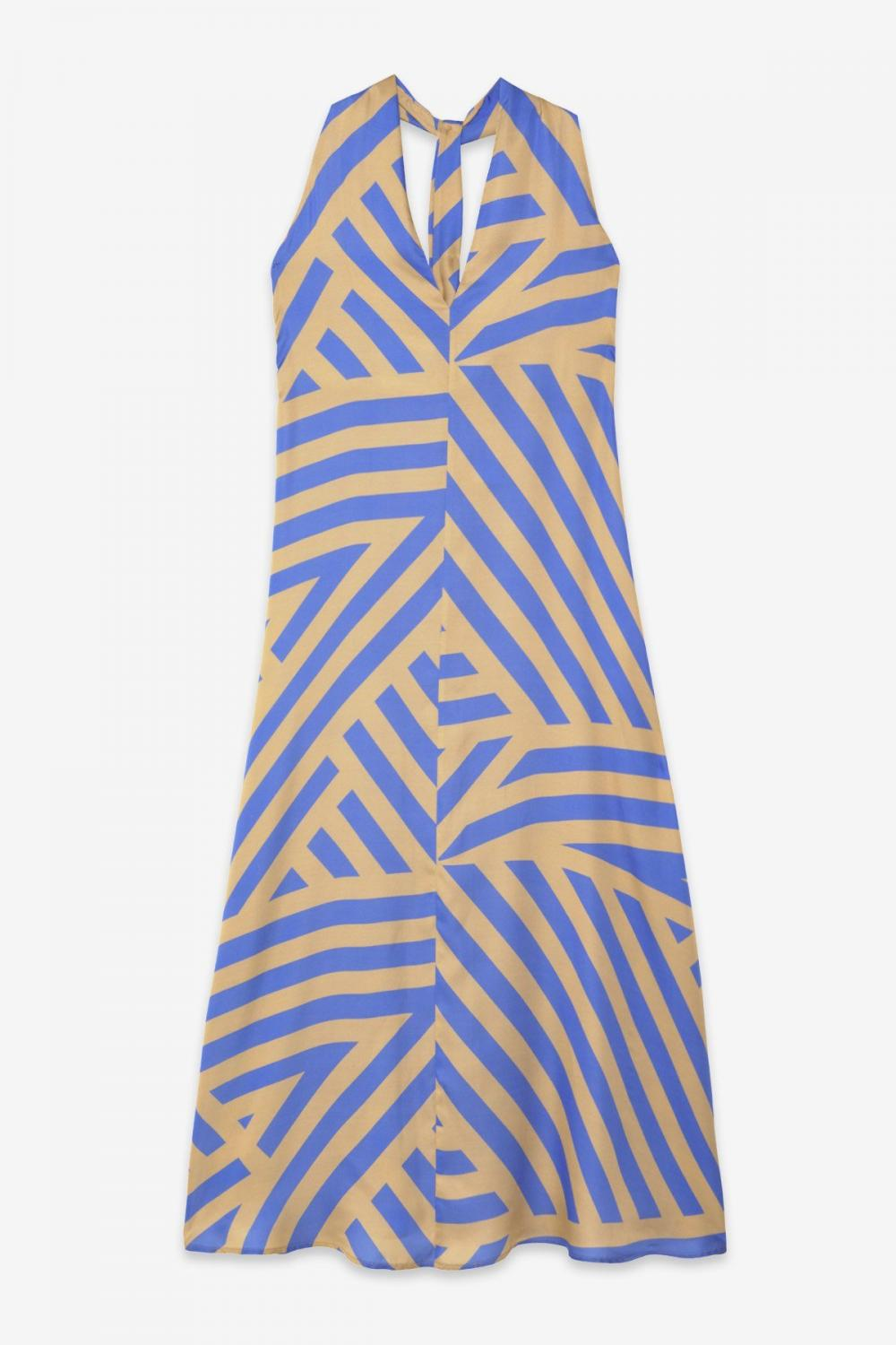 Viscose Fluid Long Dress