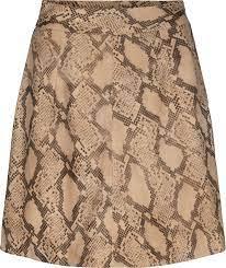 Noemi Leather Skirt Snake