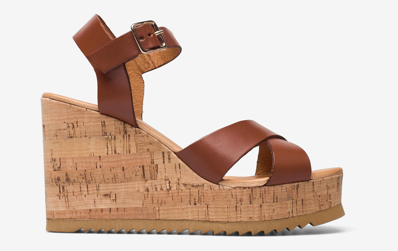 Cork High Wedge Bruciato