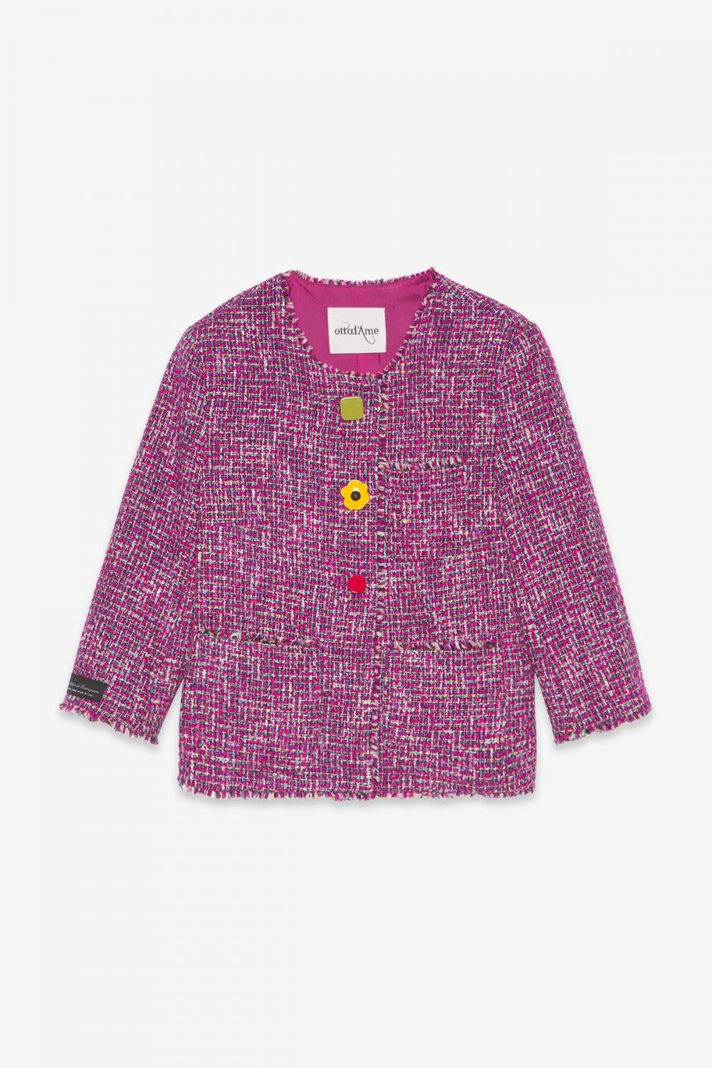 Bolero With Contrasting Buttons