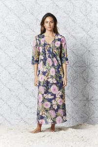 St Barts Long Poppy Dress Navy