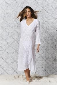 Embroidery Goa Dress White