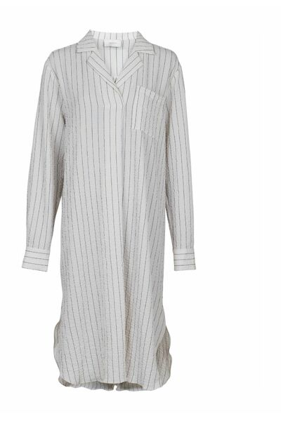 Jessica Stripe Dress White