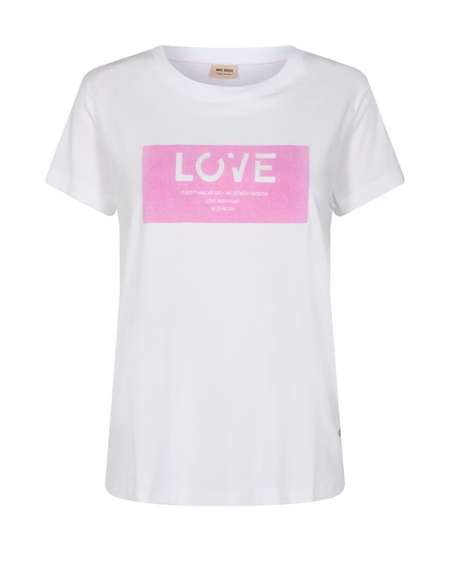 Cherie O-SS Tee Bubble Pink