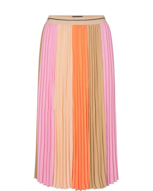 Plisse Block Skirt