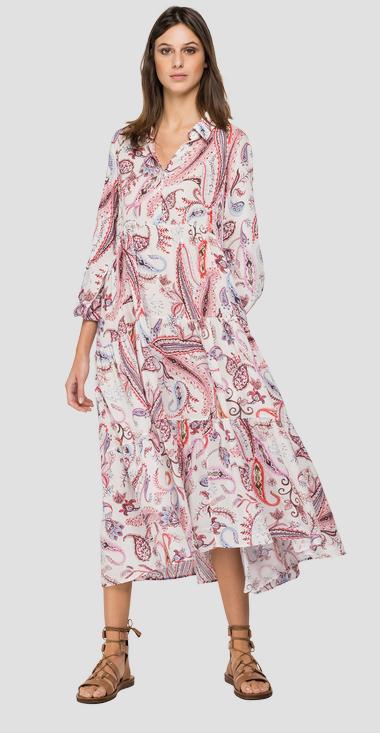 Dress All Over Printed Viscos Plain