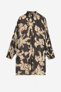 Printed Viscose Mini Dress
