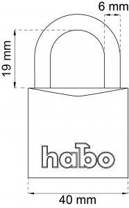 Hänglås Habo 903-1 Klass 1