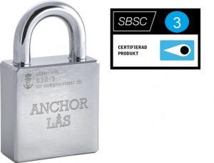 Hänglås Anchor 830-3 utan cylinder