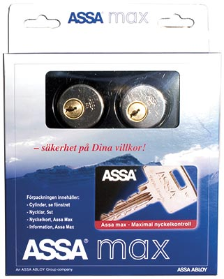 Cylinder Assa max 5612 inkl ny