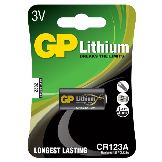 Batteri CR123A -3V Lithium