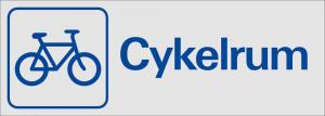 skylt Cykelrum