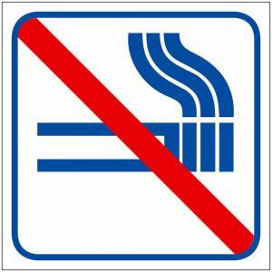 Dekal skylt, Rökning förbjuden 5-pack