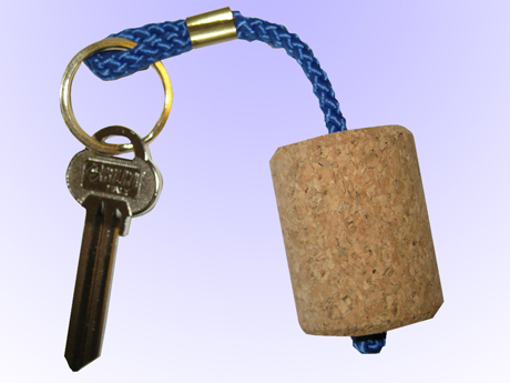 Nyckelring flytande Kork, Vinkork