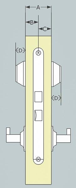 Mått för dubbel Oval cylinder