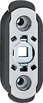 Hoppe Handtagsspärr KISI2 U26-7mm svart