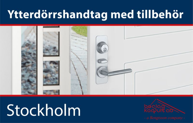 Hoppe Stockholm Ytterdörrset silver