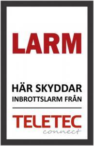 Teletec Larmdekal dubbelsidig