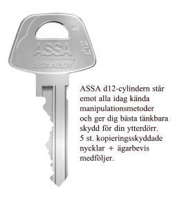 Låssats Assa Entré d12-K1 Nickel