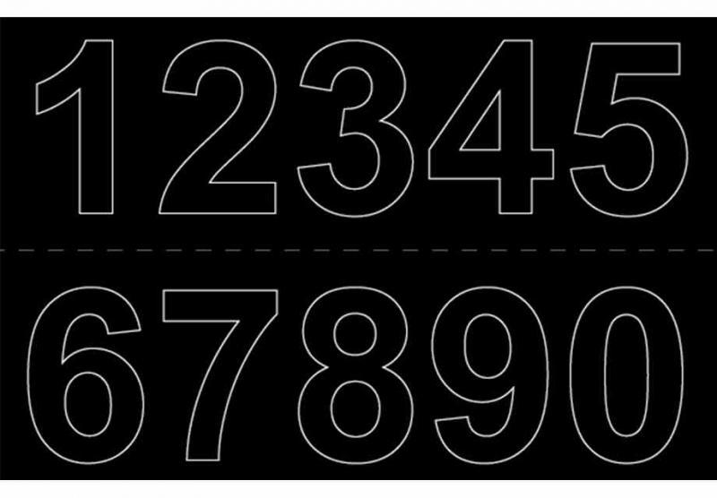 Självhäftande Siffror 50mm svart