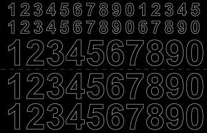Självhäftande Siffror svart