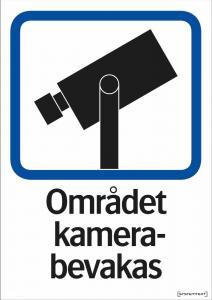 Dekal skylt, Område kamerabevakas A5