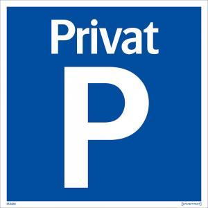 Skylt Privat parkering