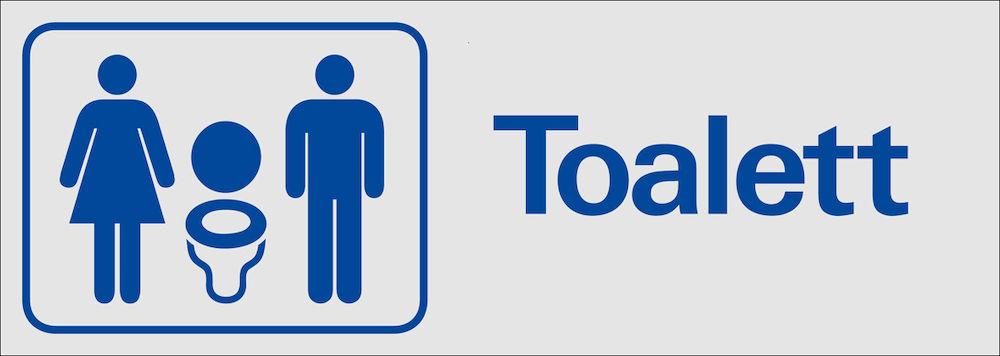 Helt nya Skylt Toalett TD-12