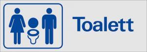 Skylt Toalett (dam, Herr)