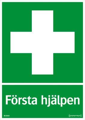 Skylt Första hjälpen