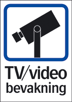 Skylt TV/Video bevakning A5