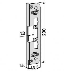 Step montagestolpe ST4005-20 Vinklad