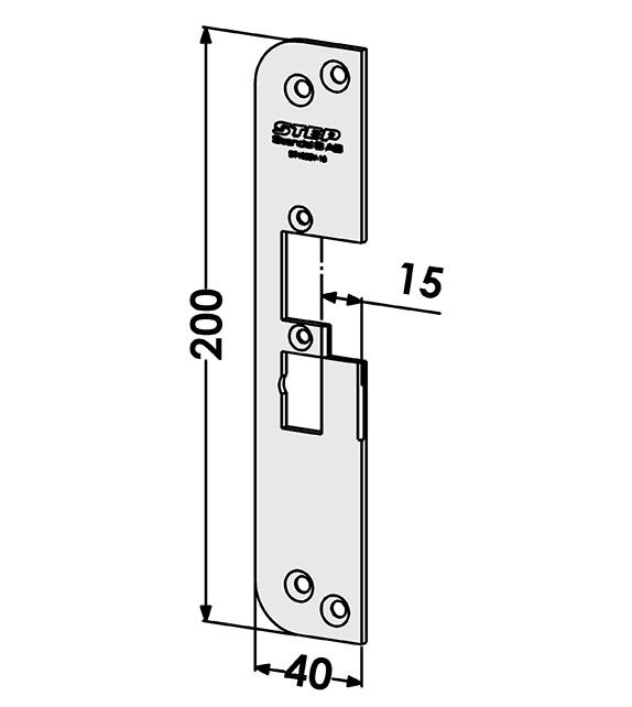 Step montagestolpe ST4030-15