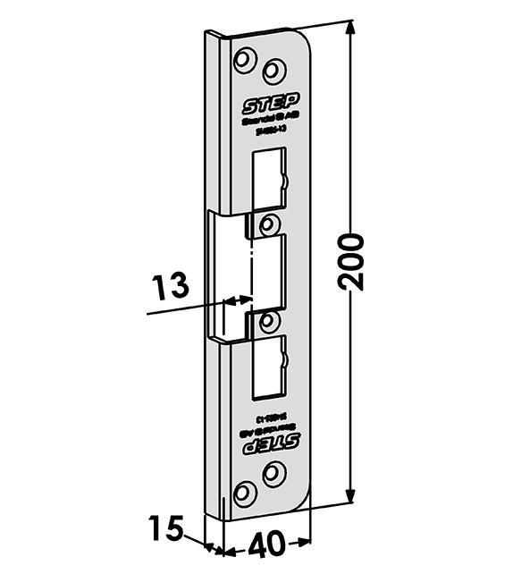 Step montagestolpe ST4005-13 Vinklad
