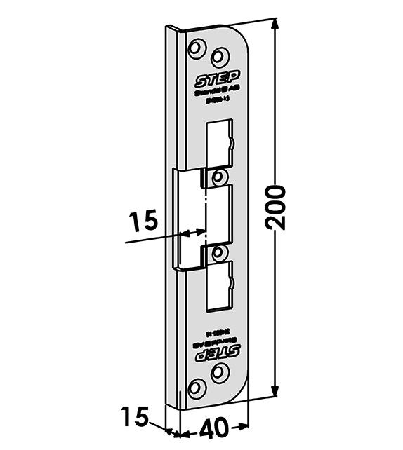 Step montagestolpe ST4005-15 Vinklad