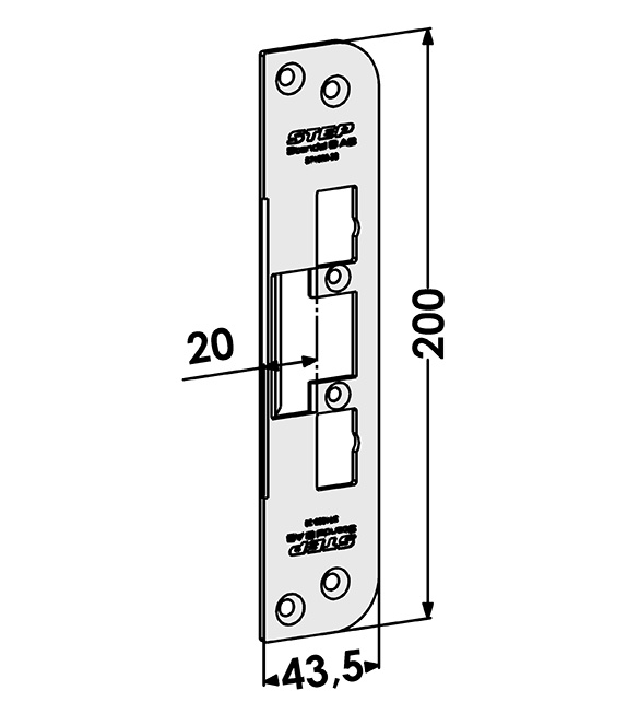 Step montagestolpe ST4009-20