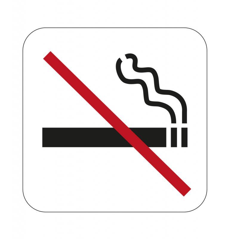Dekal skylt , Rökning förbjuden 80x80mm självhäftande