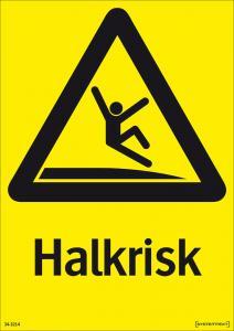 Varningsskylt Halkrisk