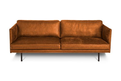 Slim 3-sits soffa | Brown