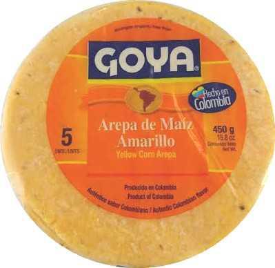 AREPA DE MAÍZ AMARILLO