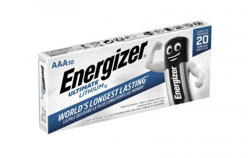 10 x litiumbatteri tagen Energizer L92 Ultimate Lithium R03 AAA