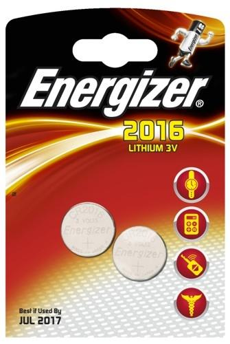 2 x Energizer Mini Litiumbatteri CR2016
