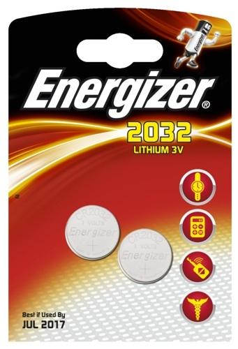 2 x Energizer Mini Litiumbatteri CR2032