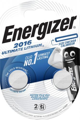 2 x Mini Litiumbatteri Energizer Ultimate Lithium CR2016 Min.Leverans:10st
