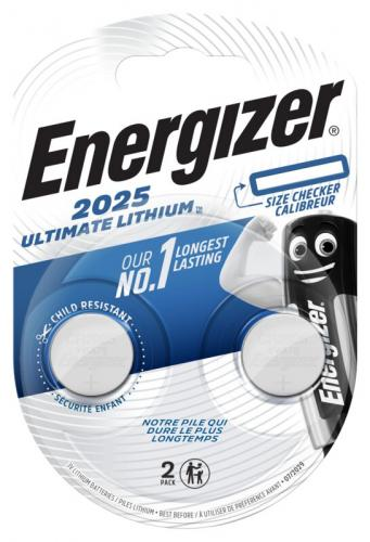 2 x Mini Litiumbatteri Energizer Ultimate Lithium CR2025 Min.Leverans:10st