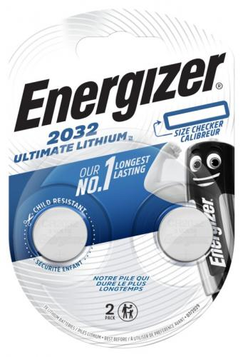 2 x Mini Litiumbatteri Energizer Ultimate Lithium CR2032 Min.Leverans:10st