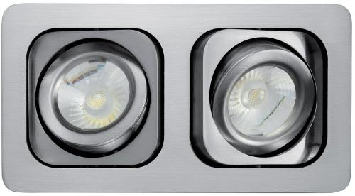 Lumiance MOTTO TREND Duo LED 14W/830 3000K 848lm IP23 Klass III 36° Borstat Aluminium