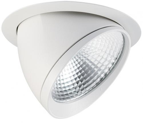 Lumiance Signo 205 LED 38W/840 4000K 2900lm 40° IP20 IK02 Klass II Vit