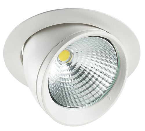 Lumiance Signo 155 LED 40W/840 4000K 2050lm 36°IP20 IK02 Klass II Vit
