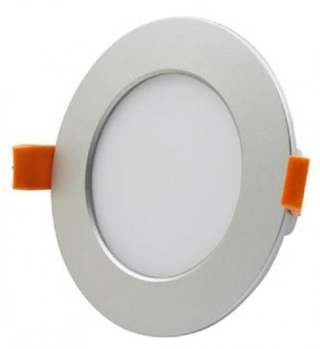 "LED-Panel Dimbar ""rund"" Inf. 6W/840 4000K 480lm 230V IP20  Silver Min.Leverans:4st"